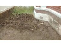 Free top soil loosened and ready to take away