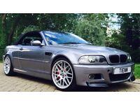 2003 BMW E46 M3 CONVERTIBLE LOW MILEAGE 12 MONTHS MOT