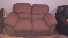 3 seater and 2 seater sofas and foot rest