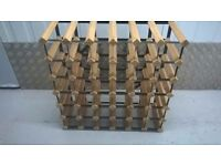 John Lewis brand new wolid wood and metal 36 bottle wine rack (£21.50 new) central London bargain