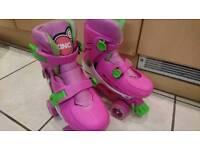 Adjustable girls roller skates