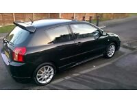 GENUINE LOW MILEAGE COROLLA T-SPORT, FSH WITH A MAJOR SERVICE AT 69354, 3 OWNERS. 12 MONTHS MOT,