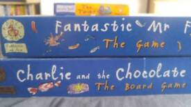 Roald Dahl Board Games Collection Including Fabtastic Mr Fox and Charlie and the Chocolate Factory