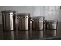 Set of 4 Airtight Storage Jars