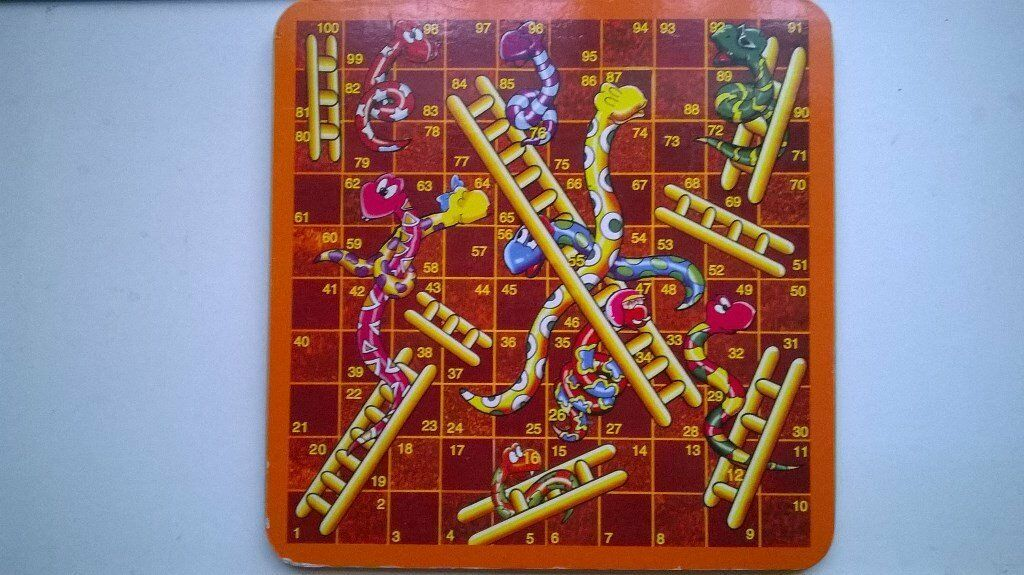 Wooden snakes & ladders