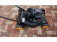 Excellent condition McCulloch 47cm (about 17 inch) self-propelled petrol lawnmower.