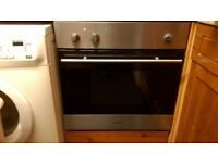 Electric fan oven with built in grill