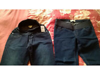 2 NEW maternity jeans, immaculate condition