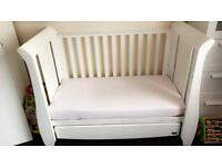 Tutti bambini cot bed with drawer in white