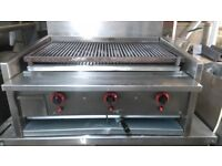 KEBAB TAKEAWAY FAST FOOD ARCHWAY CHARCOAL SHORT GRILL 3 BURNER FOR COMMERCIAL CATERING
