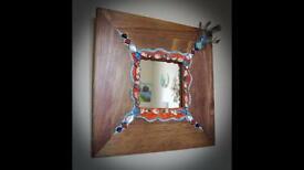 Hand decorated mirror