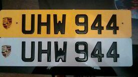 Private number plate (porsche)