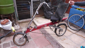 American recumbant bike, aluminium,21 gears, big comfortable seat, really fun to ride and V. cool