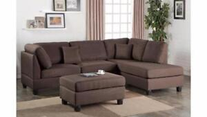 MEUBEL.CA   SECTIONAL WITH OTTOMAN