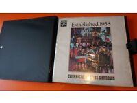 16 VINTAGE 10X CLIFF RICHARD + 6 X SHADOWS VINYL LP'S IN RETRO VINTAGE CASE