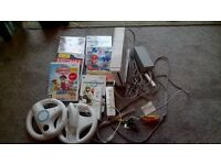 NINTENDO WII with Games and controls