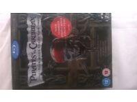 Pirates of Caribbean Blu ray DVD 4 film set