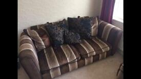 ***FREE*** Sofa, chair & footstool (with storage)