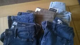 5 pairs of river island jeans