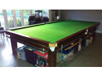Full Size Snooker Table With Score Board and overhead Light