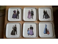 Villeroy & Boch cake plate set featuring historical Dutch regional dress