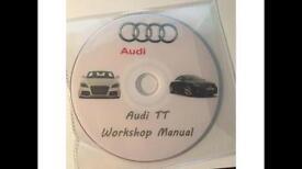 Audi TT Workshop Manual DVD