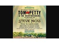 X2 tickets to Tom Petty Sunday 9th July