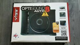 Vibe Opti-Sound Auto 8 Active Underseat Subwoofer NEW