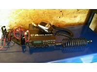CB radio Midland plus wiring and stinger aerial land rover 4x4