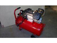 V Twin air compressor 50L with hose