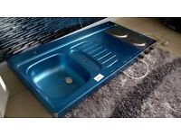 BRAND NEW CARAVAN , MOTOR HOME SINK AND DOUBLE HOB PLATE