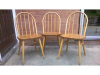 3 Ercol style dining/kitchen chairs