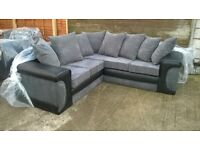 "Corner Sofa ""Brand New & Unused"" Leather & Material, can deliver if wanted."