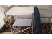 Folding Kitchen Stand with Shelf