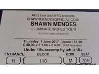 2 x Shawn Mendes tickets in the O2 Thursday 1st June