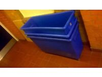 Three laundry bins on wheels excellent central London bargain