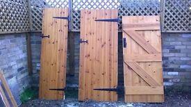 Doors- solid pine ledge and brace,