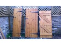Doors- solid pine ledge and brace,