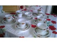 Retro Pyrex Set - Cups, Saucers, Plates, Platters