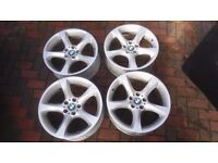 "BMW 19"" ALLOY WHEELS WITHOUT TYRES....EX COND"