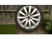 """18"""" Alloy wheel with part worn tyre(225/45R18) to suit '07 style Vauxhall Vectra"""