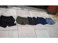 Five pairs of swimming shorts size medium (32 inch waist or less) excellent central London bargain