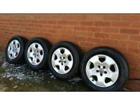 Audi alloy wheels and tyres 2x michelin