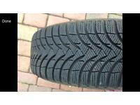 Michelin snow / winter tyre s on steel wheel x 4