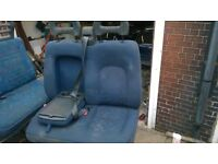 FIAT DUCATO/CITROEN RELAY PASSENGERS SIDE FRONT DOUBLE SEAT, WILL FIT YEAR 2001-2006