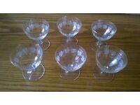 6 Vintage drinking glasses Grape Vine Design -can post for extra-