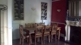 Dining Table with 8 Chairs, with matching Side Cabinet & Wine Rack