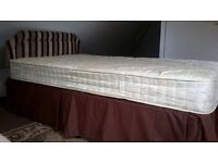 3/4 bed (small double) Myers divan base with mattress.