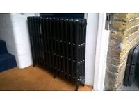 Victorian cast iron radiator (4 column - 15 sections) - new costs £420