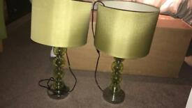 Lime green lamps
